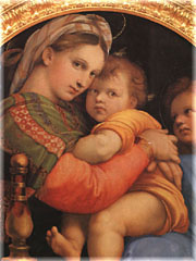 Raphael's               Madonna of the Chair at the Pitti Palace