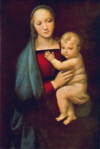 Raphael's Madonna of the Grand Duke at the Galleria               Palatina